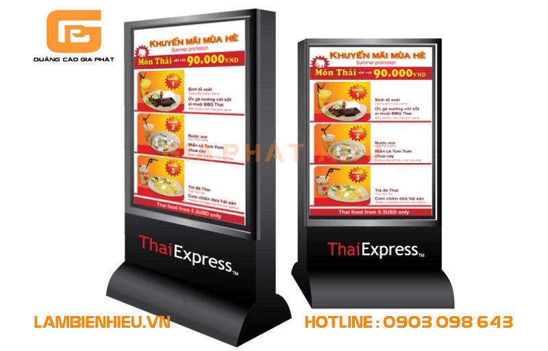 Mẫu bảng hiệu đứng đẹp của nhà hàng ThaiExpress