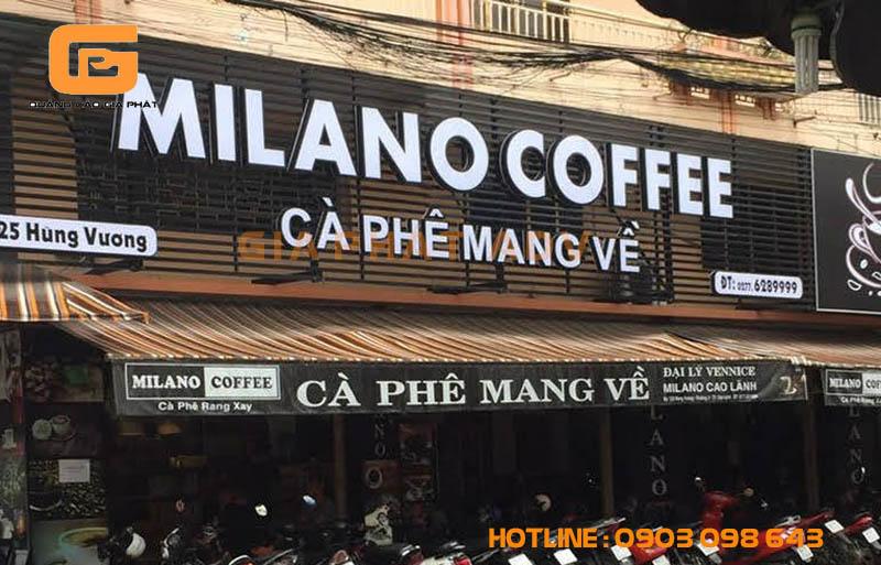 Mẫu biển hiệu cà phê mang đi đẹp và ấn tượng