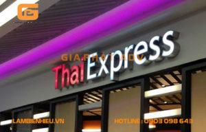 Mẫu bảng hiệu hộp đèn chữ nổi ThaiExpress