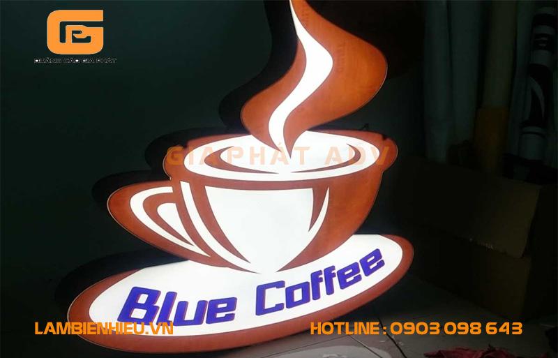 Mẫu biển hiệp hộp đèn cà phê đẹp