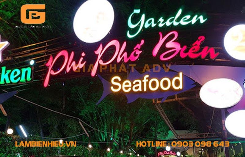 Biển hiệu nhà hàng hải sản đẹp