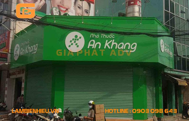 Biển hiệu tiệm thuốc tây An Khang đẹp