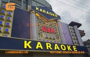 Biển hiệu quảng cáo quán hát đẹp