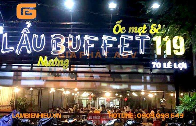 Mẫu biển hiệu quảng cáo quán ăn đẹp