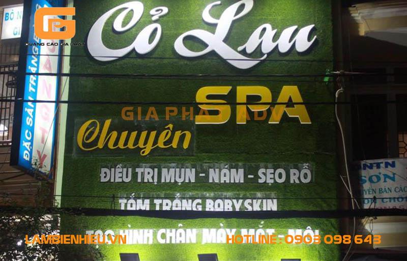 Mẫu biển hiệu spa Cỏ Lan Spa