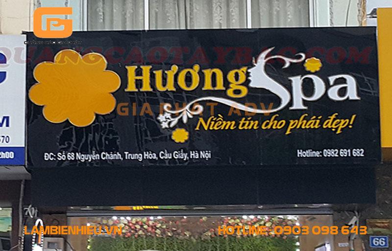 Mẫu biển hiệu spa Hương Spa đẹp