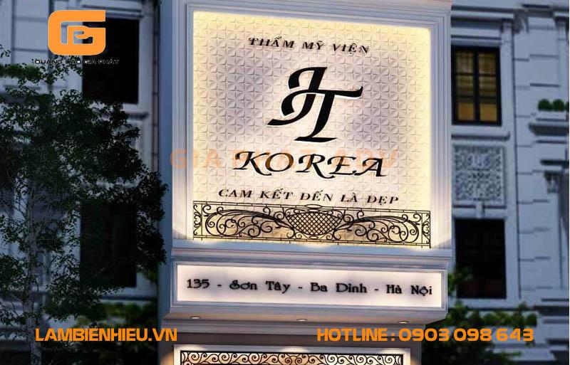 Bảng hiệu quảng cáo thẩm mỹ viện spa Korea