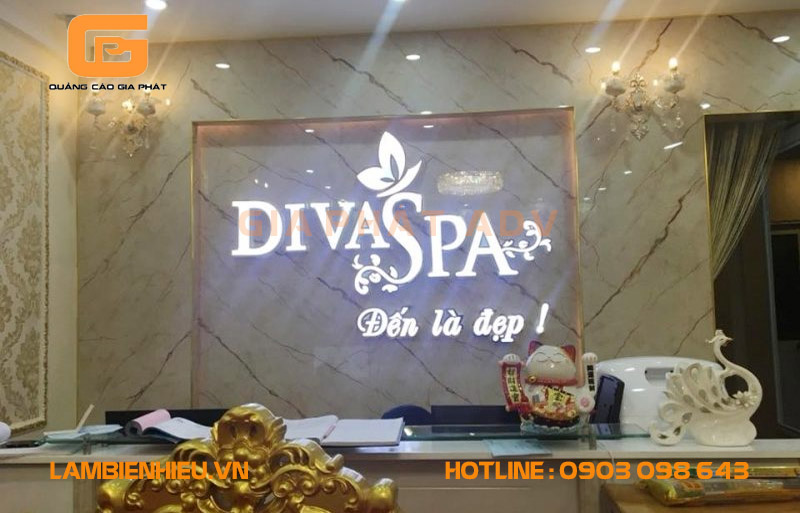 Mẫu biển hiệu spa thẩm mỹ viện Diva Spa đẹp