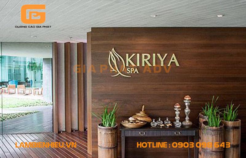 Mẫu bảng hiệu spa thẩm mỹ viện Kiriya
