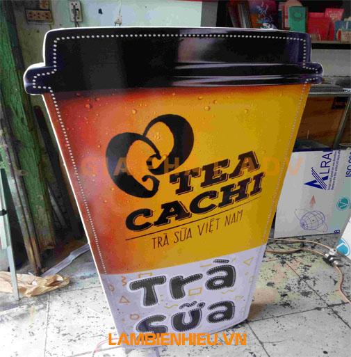 Biển hiệu hình trà sữa hộp đèn đẹp