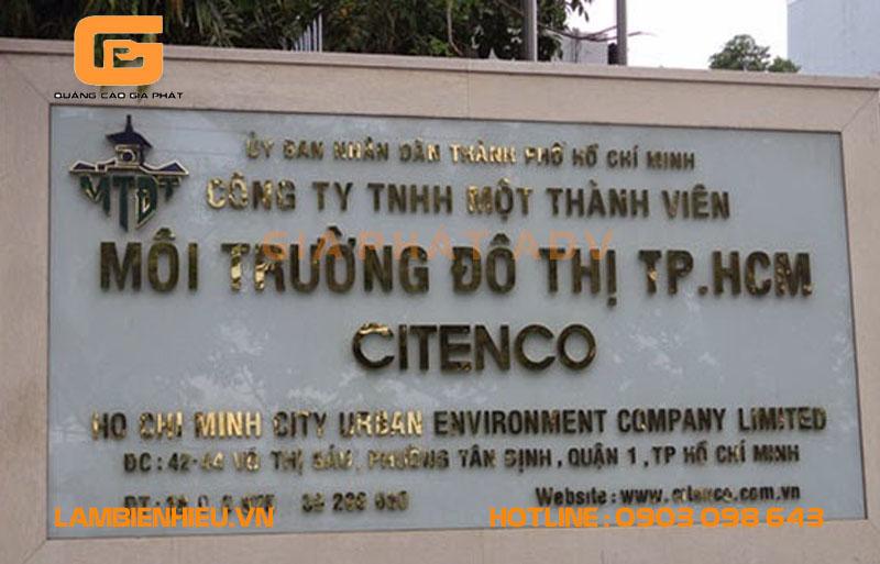 Mẫu bảng tên công ty cho các tập đoàn, nhà máy, xí nghiệp