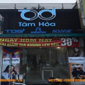 Dự án bảng hiệu cửa hàng Tâm Hoà