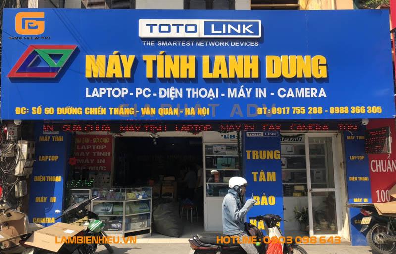 Bảng hiệu quảng cáo cửa hàng bán máy tính, sửa chữa laptop đẹp