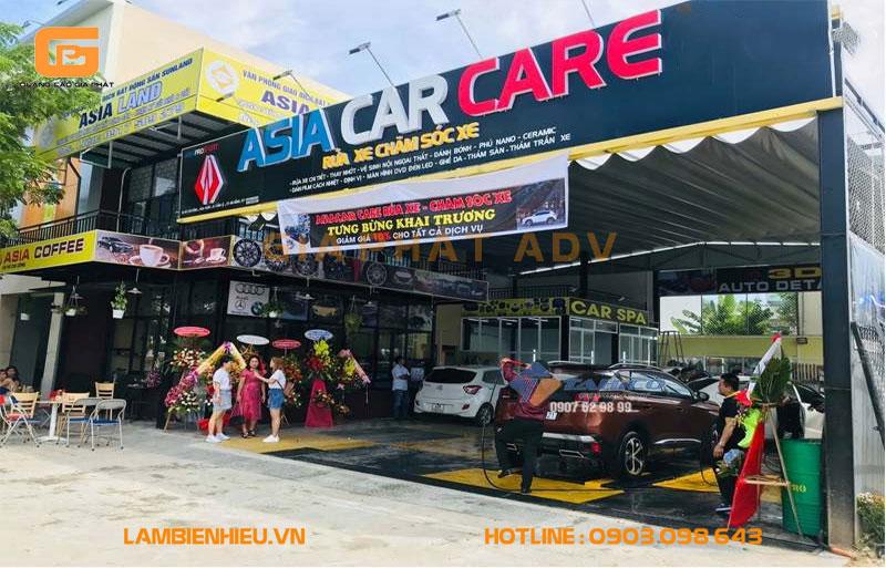 Bảng hiệu quảng cáo nội thất ô tô đẹp