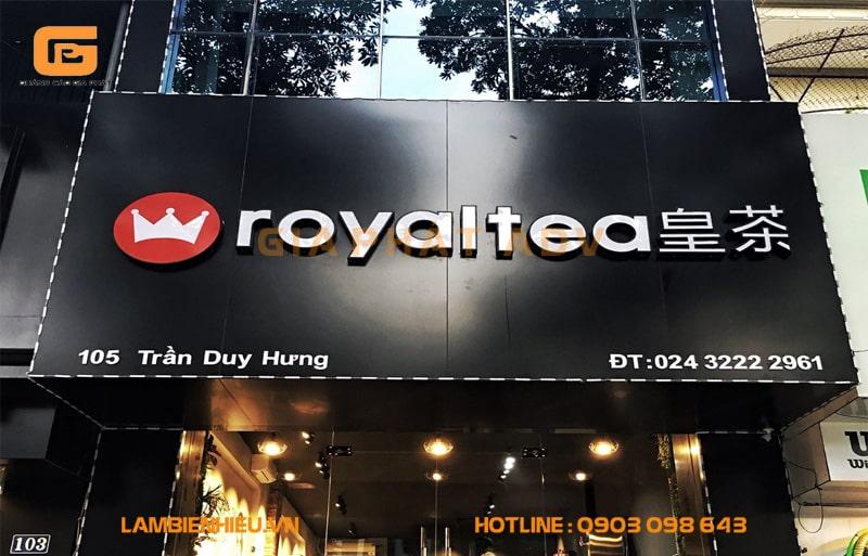 bảng hiệu quán trà sữa hoàng gia Royal Tea