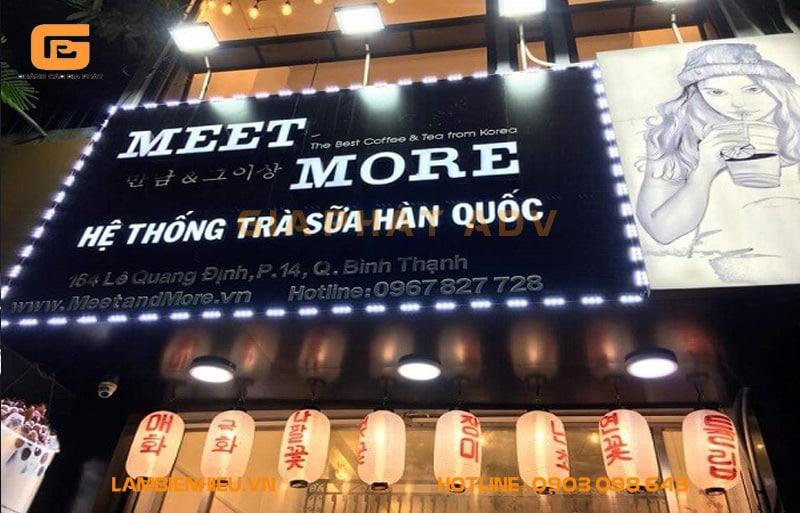 Quán trà sữa phong cách Hàn Quốc