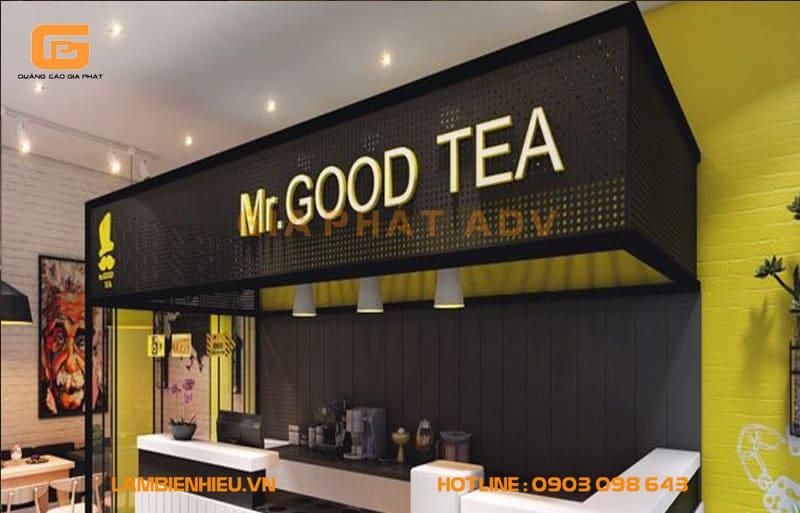 Mr. Good Tea có bảng hiệu khá ấn tượng
