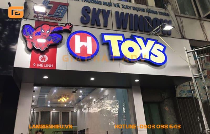 Biển quảng cáo đồ chơi trẻ em H Toys