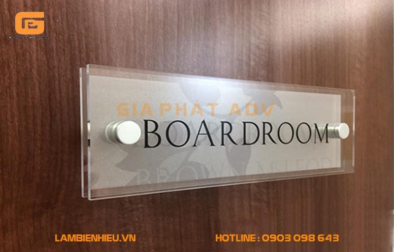 Biển hiệu phòng Boardroom