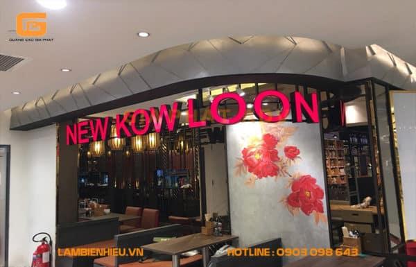Bảng hiệu alu chữ mica New Kow LooN