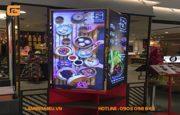 Hộp đèn quảng cáo siêu mỏng menu quán ăn